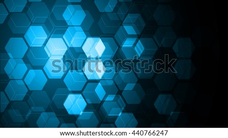 Vector Abstract science Background. blue Hexagon geometric design. EPS 10. science innovation concept abstract background - stock vector