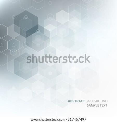 Vector Abstract science Background. Hexagon geometric design. EPS 10 - stock vector