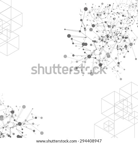 vector abstract science background, internet signal technology - stock vector