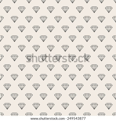 Vector abstract seamless background. Line pattern. Diamonds background - stock vector