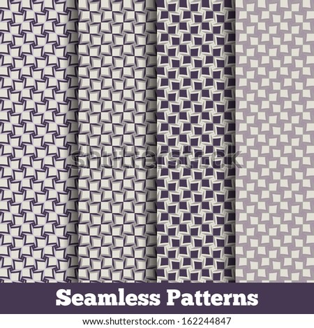 Vector abstract seamless pattern. Retro patterns collection set 2 - stock vector