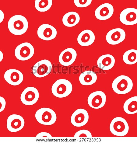 Vector abstract seamless pattern with circles. Endless texture can be used for wallpaper, pattern fills, web page background, surface texture. - stock vector