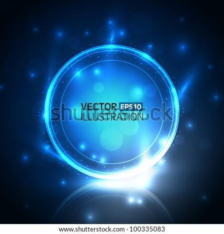 Vector abstract shiny design - stock vector