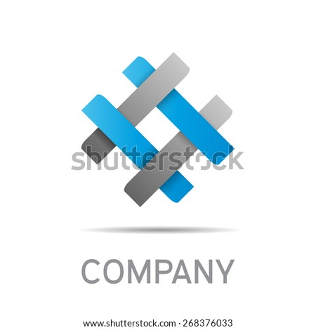 Vector abstract sign concept of synergy and teamwork - stock vector