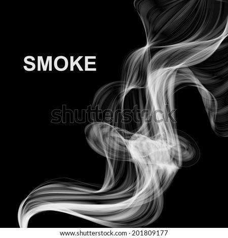 Vector abstract smoke background - stock vector