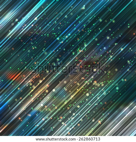 vector abstract space lights background - stock vector