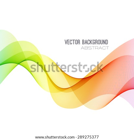 Vector Abstract spectrum curved lines background. Brochure design. Colorful wave  - stock vector
