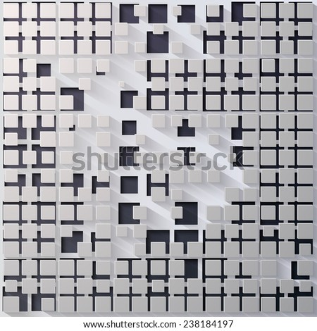 Vector Abstract Square Background with shadow - stock vector