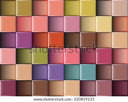 Vector abstract squares colorful background illustration. - stock vector