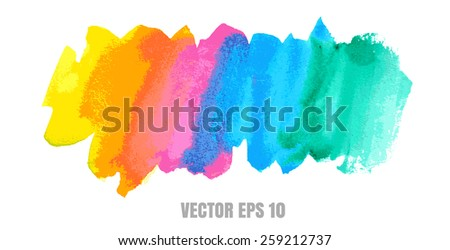 vector Abstract stain watercolors colors wet on dry paper eps10 - stock vector