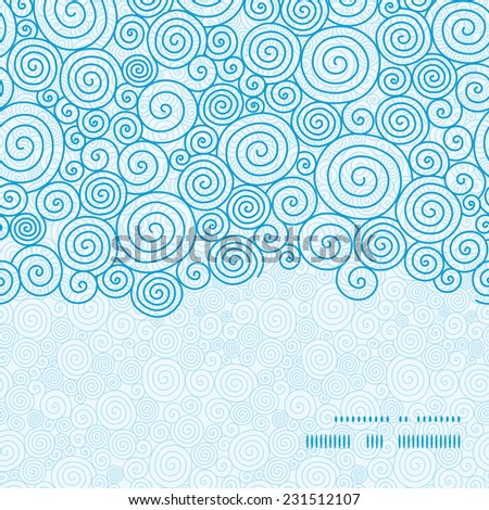 Vector abstract swirls horizontal frame seamless pattern background - stock vector