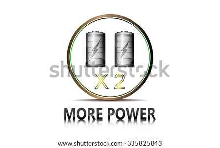 vector abstract tech power double battery design innovation concept - stock vector