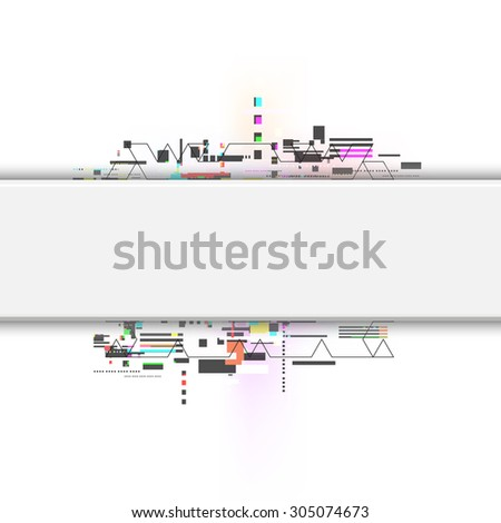 vector abstract technology, digital computer background - stock vector