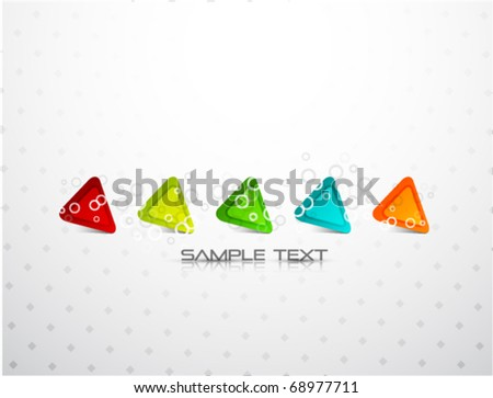 Vector abstract triangle design - stock vector