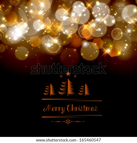Vector abstract twinkled Christmas background. Perfect as invitation or announcement.  - stock vector