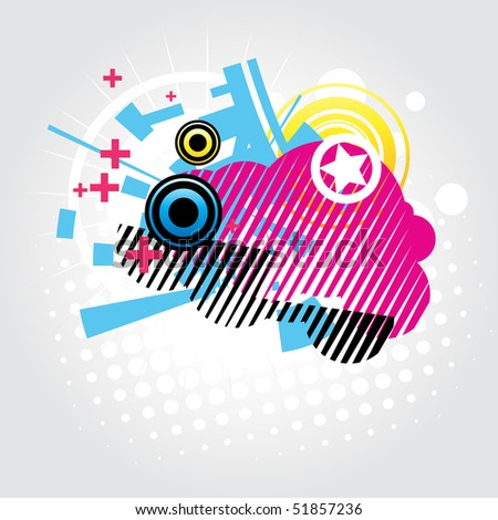 vector abstract urban style background - stock vector