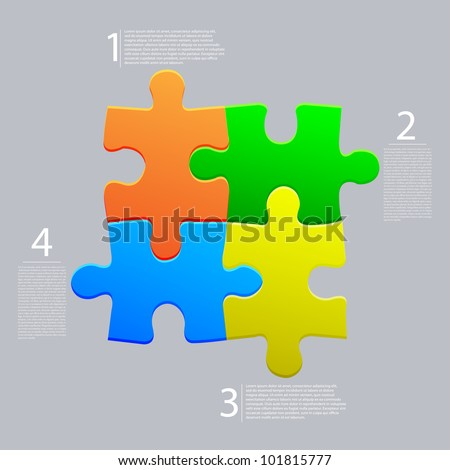 Vector abstract web puzzle. Creative background. Eps10 - stock vector