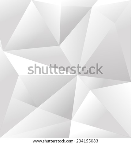 Vector Abstract White Triangle Background. Mosaic backdrop - stock vector