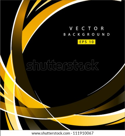 Vector abstract yellow spiral arms - stock vector