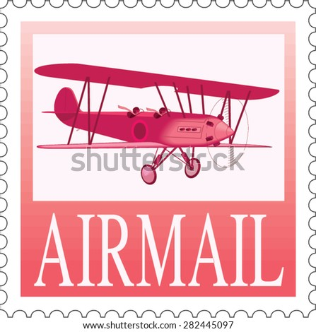 Vector Airmail Design - stock vector