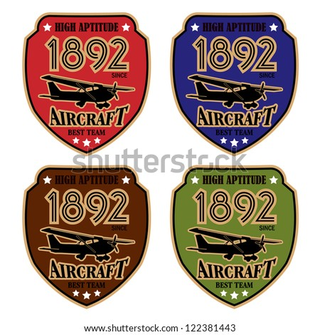 Vector airplane / Flying Badge / Vector airplane labels - stock vector