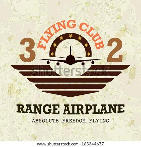 Vector airplane / Range Airplane - stock vector