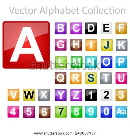 Vector Alphabet Collection - stock vector
