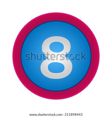 Vector Alphabet, number 8, EPS10 - stock vector