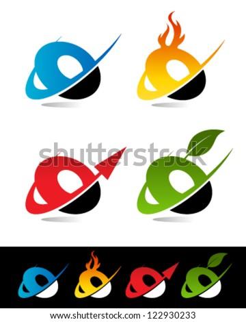 O Alphabet Logo of various swoosh O logo