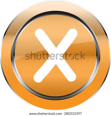 """Vector  alphabet """"X""""  button - stock vector"""