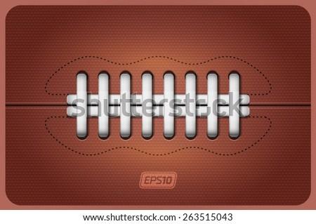 Vector american football ball leather texture - stock vector