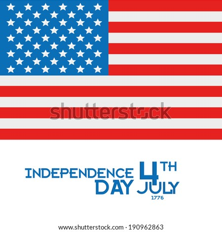 Vector American Independence Day Background Editable Template  - stock vector