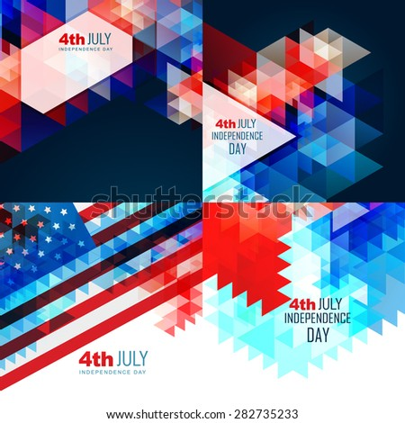 vector american independence day flag design illustration abstract background - stock vector