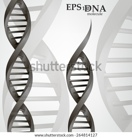 Vector and mesh DNA molecule structure background illustration. Science and biotechnology organic design  - stock vector