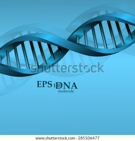 Vector and mesh DNA molecule structure background illustration. Science and biotechnology organic design element - stock vector