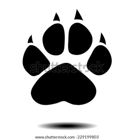 vector animal paw - stock vector