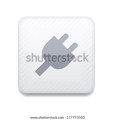 Vector app plug white icon. Eps10 - stock vector