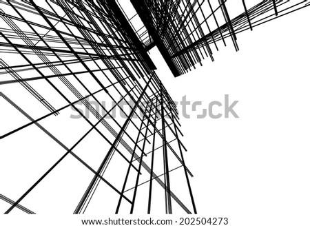 vector architecture building - stock vector