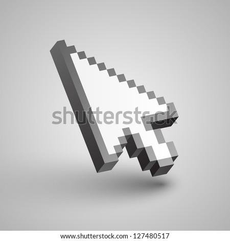 Vector arrow cursor - stock vector