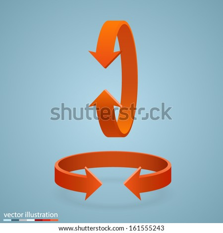 Vector Arrow rotation - stock vector