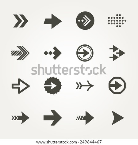 Vector Arrow signs icon set  - stock vector