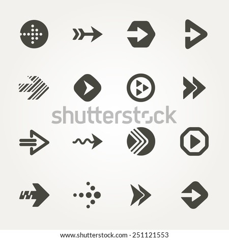 Vector Arrow signs. Icon set 2  - stock vector