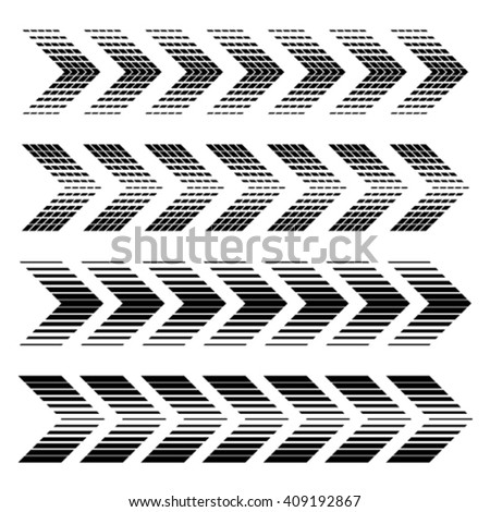 vector arrow strip black symbols - stock vector
