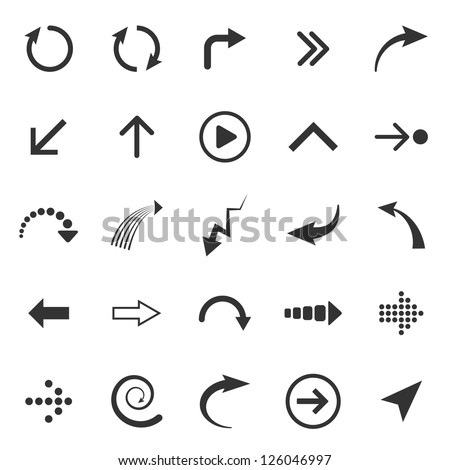 Vector Arrows signs isolated on white background - stock vector