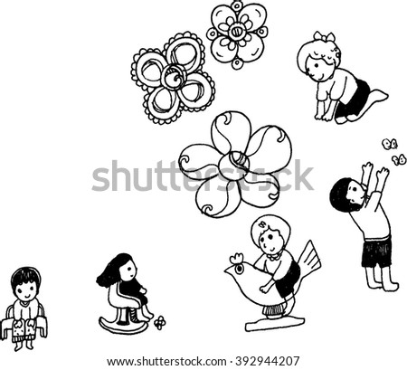 vector art character of boy and girl design for card - stock vector