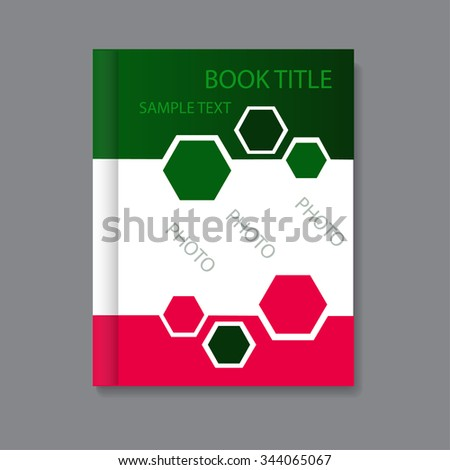 Vector art graphic illustration of book design - stock vector