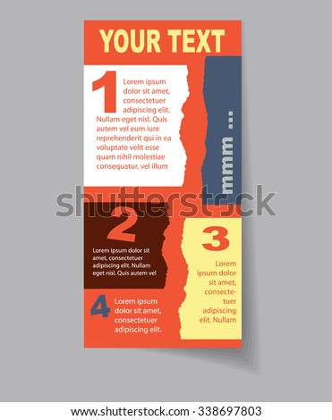 Vector art graphic illustration of vintage leaflet - stock vector