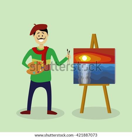 Vector artist - stock vector