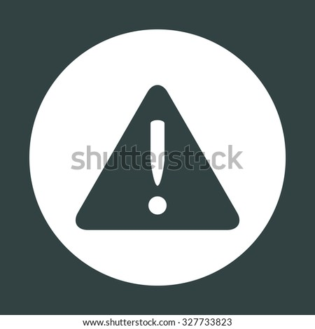 Vector attention sign with exclamation mark icon - stock vector