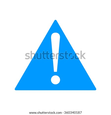 Vector attention sign with exclamation mark icon. - stock vector